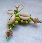 Orunmilla Double Cowrie Earrings